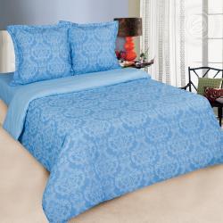 """Купить постельное белье поплин гладкокрашеный """"Византия голубая"""" в Нижнем Новгороде"""